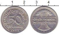 Изображение Монеты Веймарская республика 50 пфеннигов 1922 Алюминий XF G