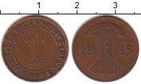 Изображение Монеты Веймарская республика 1 пфенниг 1935 Бронза XF J