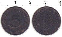 Изображение Монеты Третий Рейх 5 пфеннигов 1941 Цинк XF-