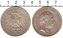 Изображение Монеты Саксония 5 марок 1904 Серебро XF+