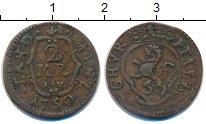 Изображение Монеты Германия Пфальц-Сульбах 2 крейцера 1750 Медь VF