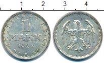 Изображение Монеты Веймарская республика 1 марка 1924 Серебро XF+ А