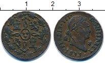 Изображение Монеты Испания 2 мараведи 1833 Медь XF