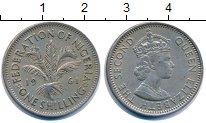 Изображение Монеты Нигерия 1 шиллинг 1961 Медно-никель XF Елизавета II