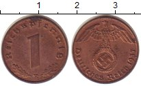 Изображение Монеты Третий Рейх 1 пфенниг 1937 Бронза XF+ E