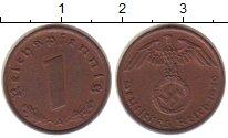 Изображение Монеты Третий Рейх 1 пфенниг 1940 Бронза XF+