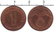 Изображение Монеты Третий Рейх 1 пфенниг 1939 Бронза XF+