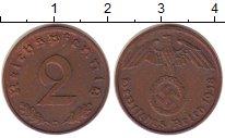 Изображение Монеты Третий Рейх 2 пфеннига 1938 Бронза XF+
