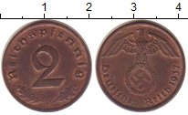Изображение Монеты Третий Рейх 2 пфеннига 1937 Бронза XF+