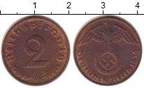 Изображение Монеты Третий Рейх 2 пфеннига 1939 Бронза XF+