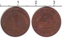 Изображение Монеты ФРГ 1 пфенниг 1950 Бронза XF