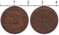 Изображение Монеты Германия 2 пфеннига 1916 Медь XF