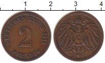 Изображение Монеты Германия 2 пфеннига 1911 Медь XF