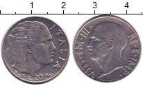 Изображение Монеты Италия 20 сентесим 1942 Сталь XF