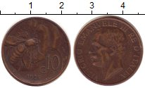 Изображение Монеты Италия 10 сентесим 1925 Бронза XF