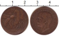 Изображение Монеты Италия 10 сентесим 1930 Бронза XF