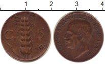 Изображение Монеты Италия 5 сентим 1920 Бронза XF