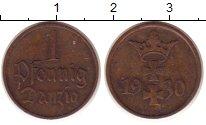Изображение Монеты Польша Данциг 1 пфенниг 1930 Бронза XF