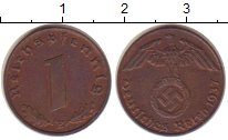 Изображение Монеты Третий Рейх 1 пфенниг 1937 Бронза XF+