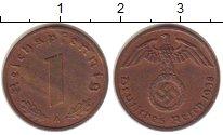 Изображение Монеты Третий Рейх 1 пфенниг 1938 Бронза XF+