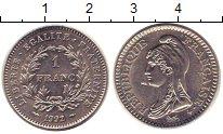Изображение Монеты Франция 1 франк 1992 Никель XF