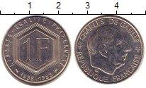 Изображение Монеты Франция 1 франк 1988 Никель XF