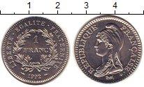 Изображение Монеты Франция 1 франк 1992 Никель UNC-