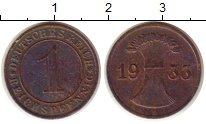Изображение Монеты Веймарская республика 1 пфенниг 1933 Бронза XF