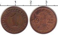 Изображение Монеты Веймарская республика 1 пфенниг 1925 Бронза XF-
