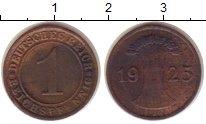 Изображение Монеты Веймарская республика 1 пфенниг 1925 Бронза XF- F