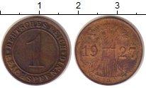 Изображение Монеты Веймарская республика 1 пфенниг 1927 Бронза XF- D