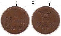 Изображение Монеты Данциг 1 пфенниг 1937 Бронза XF