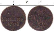 Изображение Монеты Гессен-Кассель 1 геллер 1798 Медь VF Вильгельм IX
