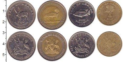 Изображение Наборы монет Уганда Уганда 2012-2015 0  XF В наборе 4 монеты но