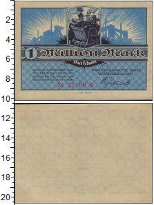 Изображение Банкноты Германия : Нотгельды 1.000.000 марок 1921  XF