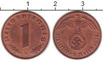 Изображение Монеты Третий Рейх 1 пфенниг 1939 Бронза UNC-