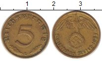 Изображение Монеты Третий Рейх 5 пфеннигов 1937 Латунь XF D