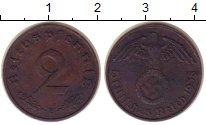 Изображение Монеты Третий Рейх 2 пфеннига 1938 Бронза XF В