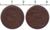 Изображение Монеты Великобритания 1 фартинг 1886 Бронза VF Виктория.
