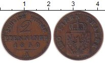 Изображение Монеты Пруссия 2 пфеннига 1850 Медь XF