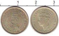 Изображение Монеты Великобритания Малайя 5 центов 1943 Серебро XF