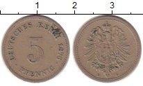 Изображение Монеты Германия 5 пфеннигов 1876 Медно-никель XF