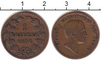 Изображение Монеты Баден 1 крейцер 1856 Медь VF