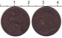 Изображение Монеты Великобритания 1 фартинг 1900 Бронза XF-