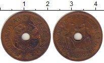 Изображение Монеты Великобритания Родезия 1/2 пенни 1955 Бронза XF