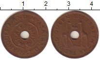 Изображение Монеты Родезия 1/2 пенни 1957 Бронза XF Елизавета II