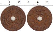 Изображение Монеты Великобритания Родезия 1 пенни 1955 Бронза XF