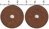 Изображение Монеты Великобритания Родезия 1 пенни 1957 Бронза XF