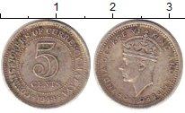 Изображение Монеты Малайя 5 центов 1948 Серебро XF