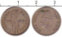 Изображение Монеты Великобритания Родезия 3 пенса 1949 Медно-никель XF-